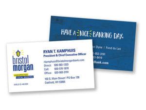 Bristol Morgan Bank Business Card